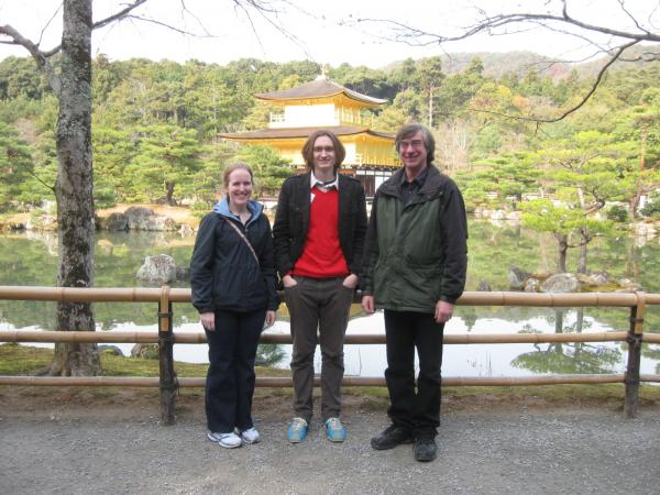 Charlie, Mike, and Becky in Japan